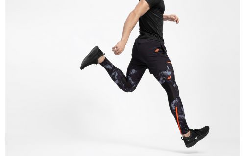 Men's running pants SPMF200 - black allover