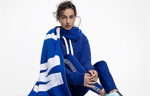 Women's hoodie BLD216 - cobalt blue