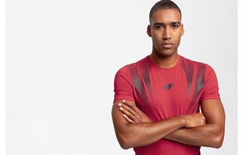 Men's active T-shirt TSMF204 - red