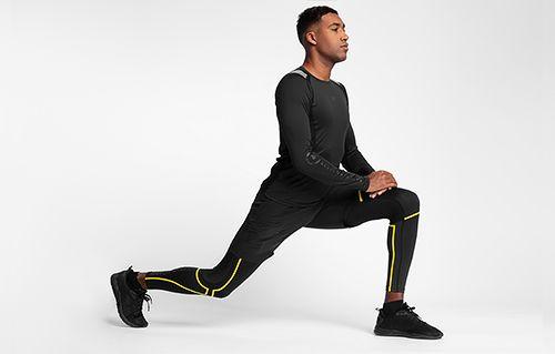 Men's active long sleeve shirt TSMLF150 - black
