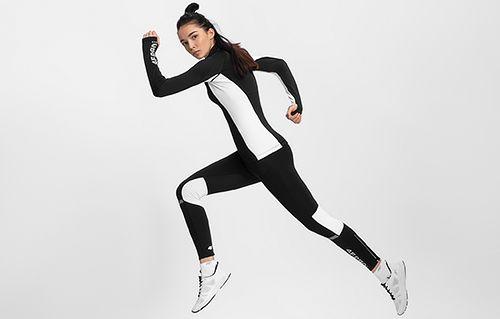 Women's active sweatshirt 4FPro Ski Running BLDF401 - black