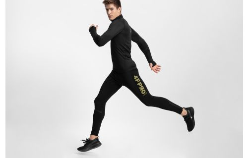 Men's active pants 4FPro Skirunning SPMF400 - black