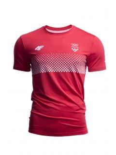 Men's active t-shirt Croatia Pyeongchang 2018 TSMF750 - red cherry