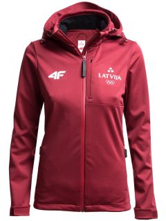 Women's softshell jacket  Latvia PyeongChang 2018 SFD800 - burgundy