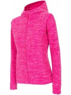 Women's fleece hoodie PLD301 -  fuchsia melange