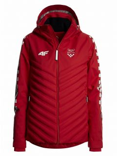 Women's ski jacket Croatia Pyeongchang 2018 KUDN750 - cobalt