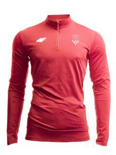 Men's active longsleeve Croatia Pyeongchang 2018 TSMLF750 - red cherry