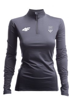 Women's active longsleeve Croatia Pyeongchang 2018 TSDLF750 - graphite