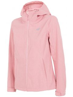 Women's softshell jacket SFD001 - light pink melange