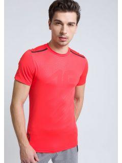 Men's active T-shirt TSMF208 - neon red