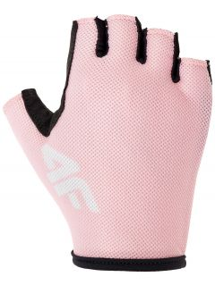 Unisex cycling gloves RRU300 - light pink