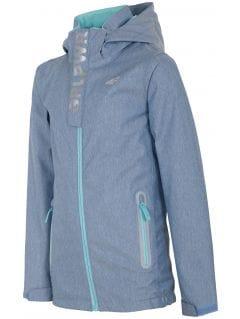 Urban jacket for small girls jkud304 - blue melange