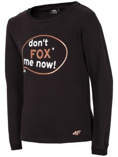 Sweatshirt for small girls JBLD106 - black