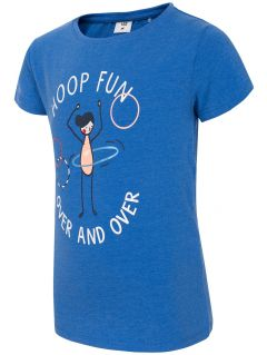 T-shirt for small girls JTSD109a - cobalt blue