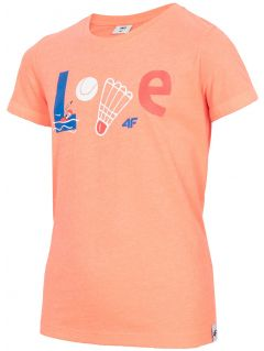 T-shirt for big girls jtsd212 - coral neon