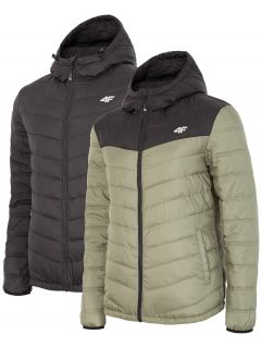 Men's down jacket KUM054 - medium grey melange
