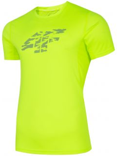 Men's functional T-shirt TSMF204 - canary green neon