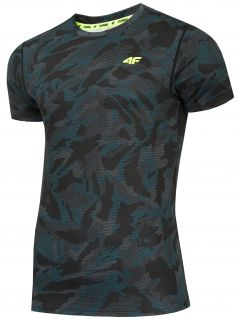 Men's functional T-shirt TSMF206 - teal allover