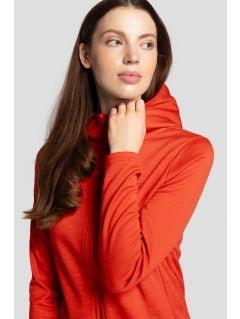 Women's hoodie BLD303 - red melange