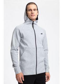 Men's hoodie BLM250 - grey melange
