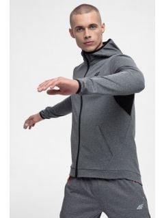 Men's active hoodie BLMF300 - medium gray melange