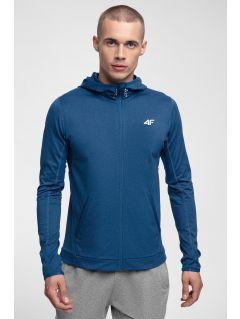 Men's active hoodie BLMF300 - cobalt blue melange