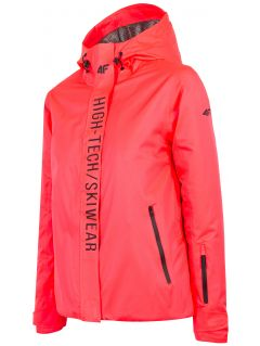 Women's ski jacket KUDN162 - salmon pink