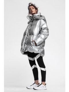 Women's down jacket KUDP220 - silver