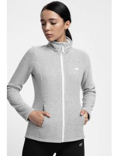 Women's fleece sweathshirt PLD300 - light grey melange
