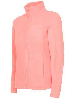 Women's fleece sweathshirt PLD300 - salmon pink