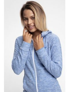 Women's fleece hoodie PLD302 - blue melange