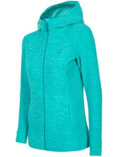 Women's fleece hoodie PLD302 - turquoise melange