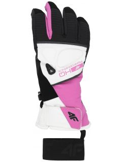 Women's ski gloves RED150 - fuchsia