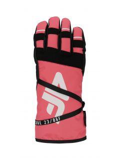 Women's ski gloves RED253 - salmon pink