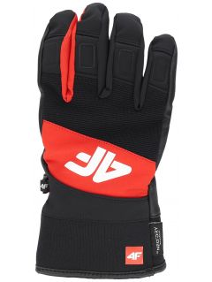 Men's ski gloves REM250 - red