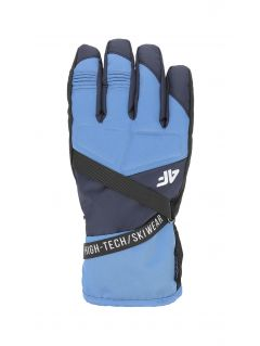Men's ski gloves REM251 - denim
