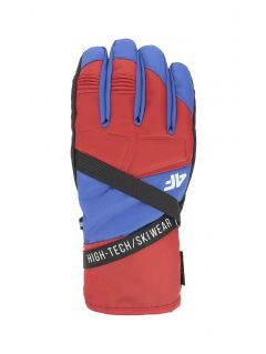 Men's ski gloves REM251 - red