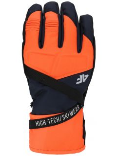Men's ski gloves REM251 - orange