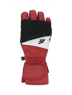 Men's ski gloves REM350 - red