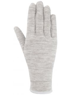Unisex fleece gloves REU301 - medium grey melange