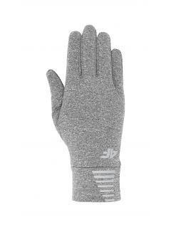 Sports gloves REU303 - medium grey melange