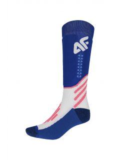Women's ski socks SODN150 - cobalt blue