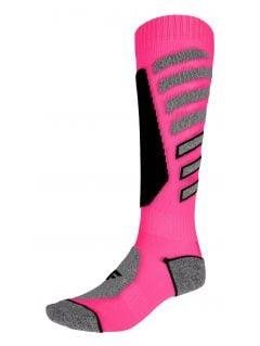 Women's ski socks SODN249 - fuchsia