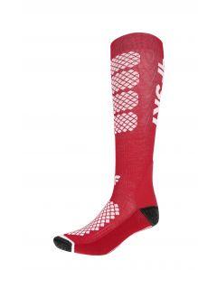Women's ski socks SODN250 - red
