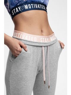 Women's sweatpants SPDD400 - light grey melange