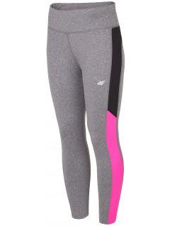 Women's active leggings SPDF301 - dark grey melange