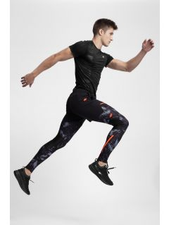 Men's running pants SPMF200 - black allover