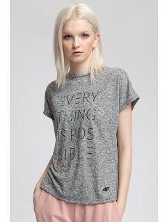 Women's T-shirt TSD410 - light grey melange