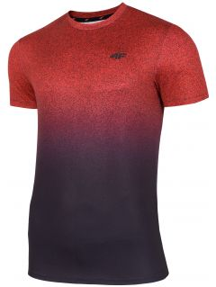 Men's active T-shirt TSMF208 - red allover