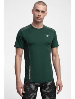 Men's active T-shirt TSMF216 - dark green